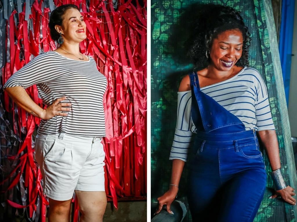 Fabiana à esquerda e Elaine à direita foram as estrelas da 1º edição da campanha #SouLindaAssim - Fotos: Edson Lopes Jr.