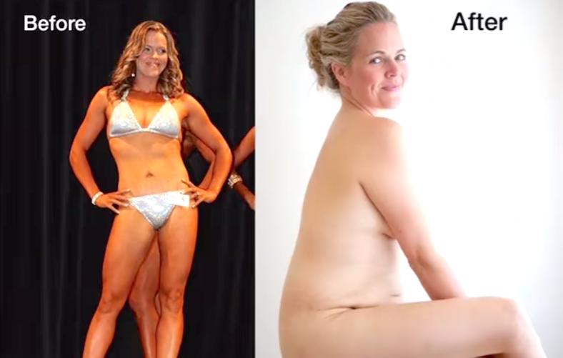 O antes e depois de Taryn Brumfitt que causou frisson em todo o mundo - Fotos: Google Imagem