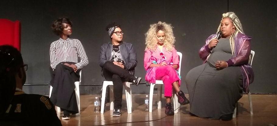 Da esquerda para a direita: Aretha Sadick, Isaac Silva, Magá Moura e Luciene Barros - Foto: Elaine Paiva