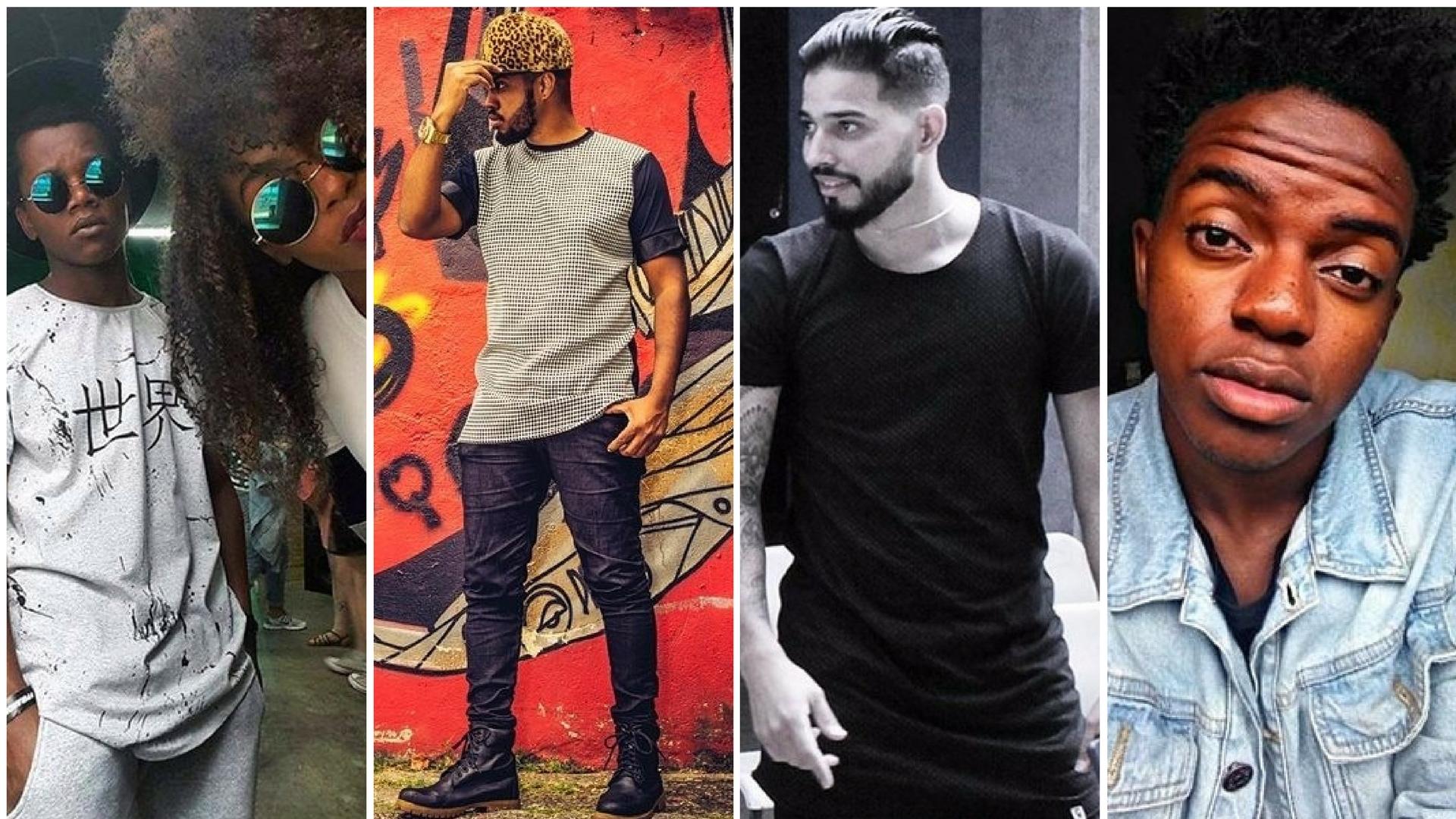 Da esquerda para a direita: Caio Nunes e Samela, Peterson, Marcus e Matheus Couto - Fotos: Periferia Inventando Moda